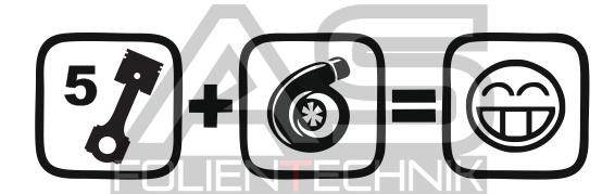 5 zylinder turbo smile garage of sticker onlineshop. Black Bedroom Furniture Sets. Home Design Ideas